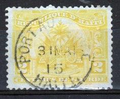 Haiti 1906 Two Centime Single Yellow Stamp. - Haiti