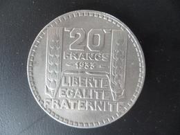 20 Francs Turin Argent 1933 TTB - France