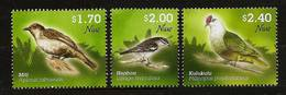 NIUE 2011 - NATIVE BIRDS / Miti Heahea Kulukulu - 3v MNH ** Neuf V569-22 - Niue