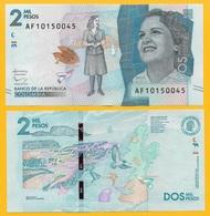 Colombia2000 Pesos P-458 2016 UNC - Colombie