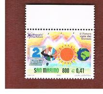 SAN MARINO -   UNIF.1736   -   2000  IL FUTURO DEI FRANCOBOLLI    - MINT** - San Marino