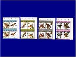 """Qualité: XX - 291/98, 4 Doubles Paires, Complet, Tous Avec Erreur """"impression Du Centre Renversée"""", Cdf: Oiseaux De Audu - St.Kitts And Nevis ( 1983-...)"""
