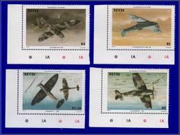 Qualité: XX - 361/64, Cdf, Tous Avec Erreur Impression Du Noir Renversée, (faciale, Légende, Pays): Avion De Chasse. (Ce - St.Kitts And Nevis ( 1983-...)