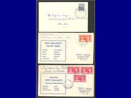 Qualité:  - 3 Enveloppes, Années 1949/53, Avec Oblitérations De Petites Localités: Toatoa, Totaranorth Et Pukemiro. (En  - New Zealand
