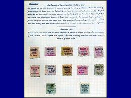 Qualité: O - Collection Spécialisée De 44 Timbres Avec Publicité Au Verso (couleurs/faciales Diverses), Généralement Sur - New Zealand