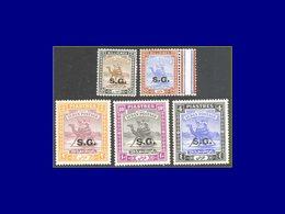 Qualité: XX - 57 + 59/60 + 62 + 66, 5 Valeurs, Papier Ordinaire: Méhariste. (SG 36a+38/39a+39ca+41a). Cote: 250 - Sudan (1954-...)