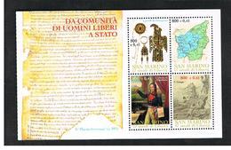 SAN MARINO - UNIF. BF 68  - 2000  17 SECOLI DI LIBERTA': UOMINI  LIBERI (DA LIBRETTO L6)   - MINT** - Saint-Marin