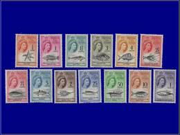 Qualité: XX - 42/54, Complet 13 Valeurs, Monnaie Nouvelle: Animaux, Baleine. Cote: 130 - Tristan Da Cunha