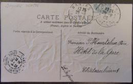 Flamme Daguin Mixte 28 Juin 1906 (cachets Daguin Type 1 Et 4) Nantes Sur CPA Fantaisie En Relief - Bel état - Marcofilia (sobres)