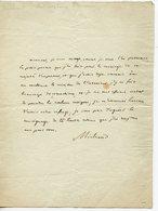 172. POETE HISTORIEN ECRIVAIN ACADEMICIEN JOSEPH-FRANCOIS MICHAUD. LAS CITANT SON POEME POUR LE MARIAGE DE L'EMPEREUR - Autografi