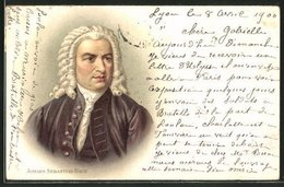 Lithographie Johann Sebastian Bach, Portrait Des Komponisten - Artiesten