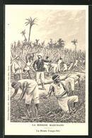 Künstler-AK Mission Marchand, La Route Congo-Nil, Afrikanische Feldarbeiter Bei Der Arbeit - Unclassified