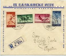 YUGOSLAVIA 1938 Balkan Games Set On FDC.  Michel 362-65 - FDC