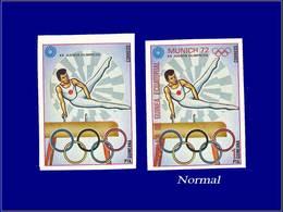 Qualité: XX - Michel 108, Non Dentelé Sans La Couleur Rouge (pays Et Faciale) + Normal: (1p) Jeux Olympiques De Munich 7 - Equatorial Guinea