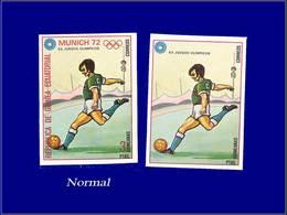 Qualité: XX - Michel 110, Non Dentelé Sans La Couleur Rouge (pays Et Faciale) + Normal: (3p) Jeux Olympiques De Munich 7 - Equatorial Guinea