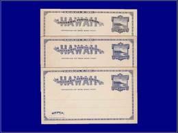 Qualité: N - Scott Ux2 (x 3 Exemplaires) + Paid Respons Uy2 M/R (x 2 Exemplaires): View Of Diamond. Cote: +410 - Hawaii