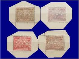 Qualité: X - Postes 168/170 A, 4 Feuillets Unitaires, Dentelés, Tous Coupés Aux 4 Angles, Cdf. - Honduras