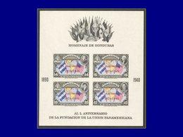 Qualité: XX - 3 A, Non Dentelé, (tirage 300), (Michel 3B): 75° Upu. Cote: 500 - Honduras