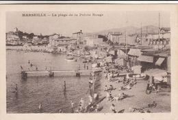 Cp , 13 , MARSEILLE , La Plage De La Pointe Rouge - Castellane, Prado, Menpenti, Rouet