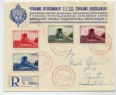 YUGOSLAVIA 1939 Assassination Anniversary Set On FDC.  Michel 389-92 - FDC