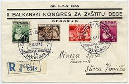 YUGOSLAVIA 1938 Child Welfare Set On FDC.  Michel 366-69 - FDC