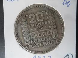 20 Francs Turin Argent 1933 TTB N° 2 - France