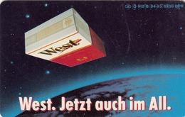 GERMANY - West Zigaretten 6  In Space 2 , Jetzt Auch Im All, O 0818b-04/93 , 6.200 Tirage ,used - Deutschland