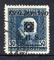 KINGDOM OF SHS 1919 Bosnia 50 H.  Used, Marjanovic Certificate.  Michel 41 - 1919-1929 Kingdom Of Serbs, Croats And Slovenes