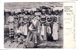 Bundoo Girls, Freetown, Sierra Leone. 1906 - Sierra Leone
