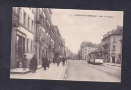 Peu Courante Strasbourg Neudorf - Rue Du Polygone ( Animée Tramway Ch. Bergeret ) - Strasbourg