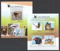 RR519 2014 GUINEA FAUNA BIRDS RAPTORS LES RAPACES KB+BL MNH - Adler & Greifvögel