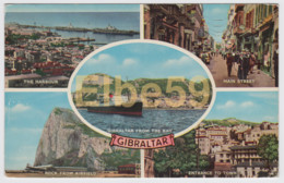 Gibraltar, Multiviews, Harbour, Airfield, Bay, Paquebot, Used - Gibilterra