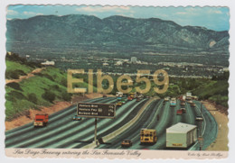 USA (California), San Diego Freeway Entering The San Fernando Valley, Used 1979 - Cartoline
