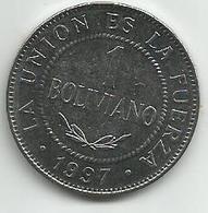 Bolivia  1 Boliviano 1997. High Grade - Bolivie