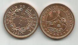 Bolivia  1 Boliviano 1951. High Grade - Bolivie