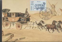 30165. Tarjeta Maxima VALENCE (Drome) 1987. Malle Posta Berline. Museo Postal - Cartas Máxima