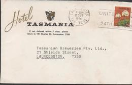 30166. Carta LAUNCESTON (Tasmania) Australia 1976. HOTEL Tasmania - 1966-79 Elizabeth II