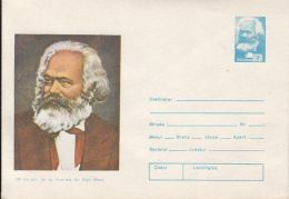 FAMOUS PEOPLE, KARL MARX, COVER STATIONERY, ENTIER POSTAL, 1983, ROMANIA - Karl Marx