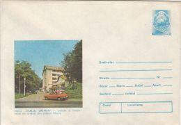 TOURISM, VATMAN HILL INN, CAR, COVER STATIONERY, ENTIER POSTAL, 1979, ROMANIA - Holidays & Tourism