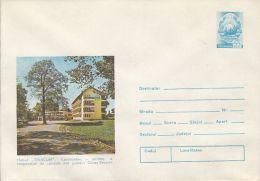 TOURISM, TIBISCUM INN, CAR, COVER STATIONERY, ENTIER POSTAL, 1979, ROMANIA - Holidays & Tourism