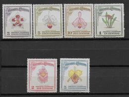 COLOMBIA - YVERT N° 405/410 ** MNH - COTE = 17 EUR. - FAUNE ET FLORE - - Colombie