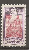 OCEANIE -  Yv. N° 51  *  25c,     Tahitiens  Cote 0,8 Euro BE   2 Scans - Unused Stamps