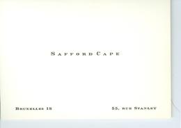 Carte De Visite De Safford Cape Musicien, Directeur De Pro Musica Antiqua  Bruxelles - Cartes De Visite