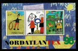 Ref 1229 - Faroe Islands 1996 Miniature Sheet MNH - Childrens Drawings Nordatlantex 96 - Faroe Islands