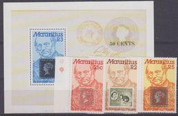 Mauritius 1979 Sir Rowland Hill 3v + M/s ** Mnh (40919) - Mauritius (1968-...)