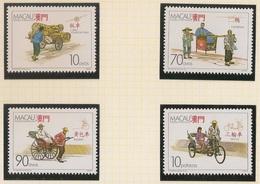 Macau Portugal China Chine 1987 - Transportes Terrestres Tradicionais - Traditional Vehicles - Set Complete - MNH/Neuf - Neufs