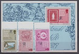 British Virgin Islands 1979 Sir Rowland Hill 3v + M/s ** Mnh (40920) - Britse Maagdeneilanden