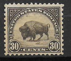 USA - YVERT N° 244A DENT 11 * MLH - COTE = 45 EUR. - FAUNE ET FLORE - BISON - Etats-Unis