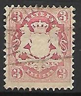BAVIERE    -    1870 .   Y&T N° 24 Oblitéré. - Bayern