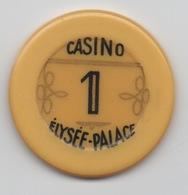 Jeton De Casino De Vichy : Elysée-Palace 1 Franc - Casino